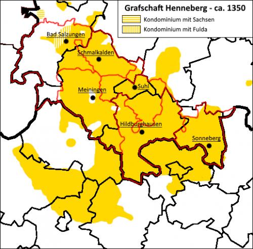 Henneberg-Franken Grafschaft Henneberg 1350