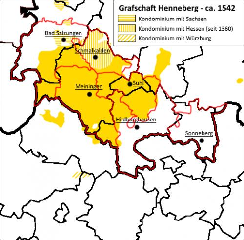 Henneberg-Franken Grafschaft Henneberg 1542