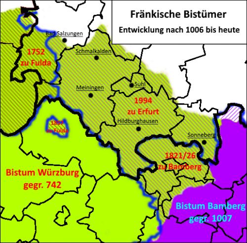 Henneberg-Franken Bistümer