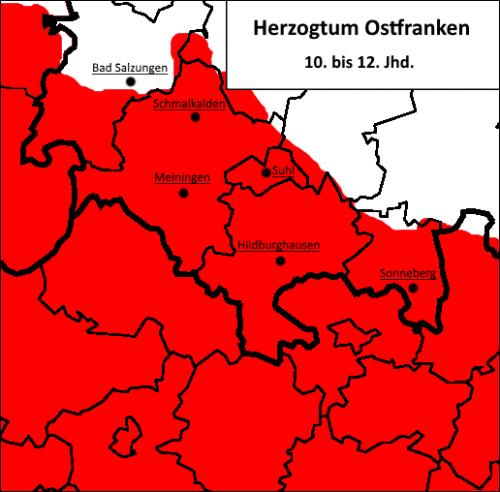 Henneberg-Franken im Herzogtum Ostfranken
