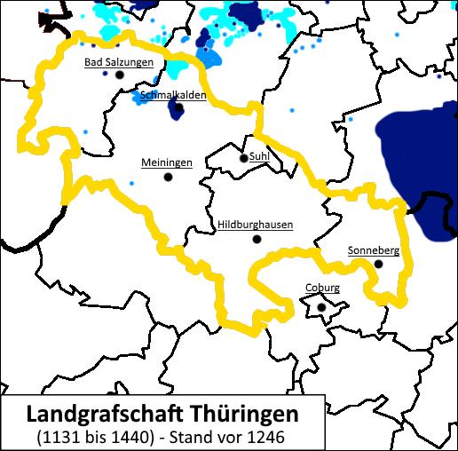Henneberg-Franken Landgrafschaft Thüringen