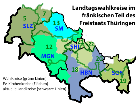 Südthüringen Landtagswahlkreise