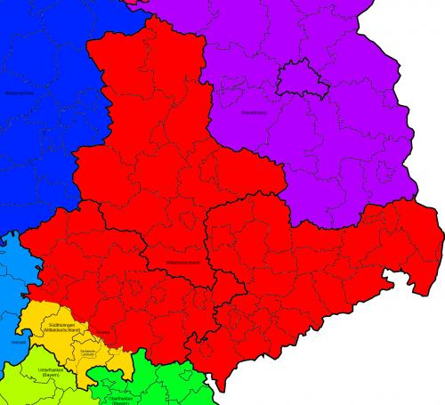 """""""Südthüringen"""" gelb hinterlegt"""